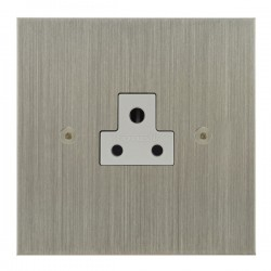 Focus SB True Edge TEASN19.1W 1 gang 2 amp unswitched socket in Satin Nickel with white inserts