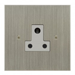 Focus SB True Edge TEASN20.1W 1 gang 5 amp unswitched socket in Satin Nickel with white inserts