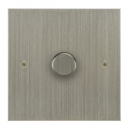 Focus SB True Edge TEASN21.1 1 gang 2 way 250W (mains and low voltage) dimmer in Satin Nickel