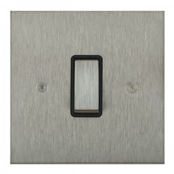 Focus SB True Edge TEASS11.1/3B 1 gang 20 amp Intermediate rocker switch in Satin Stainless