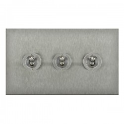 Focus SB True Edge TEASS14.3 3 gang 20 amp 2 way toggle switch in Satin Stainless