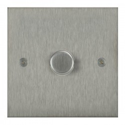 Focus SB True Edge TEASS21.1 1 gang 2 way 250W (mains and low voltage) dimmer in Satin Stainless