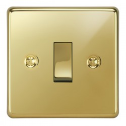 Focus SB Victorian VPB11.1/3 1 gang 20 amp Intermediate rocker switch in Polished Brass