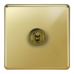 Focus SB Victorian VPB14.1 1 gang 20 amp 2 way toggle switch in Polished Brass