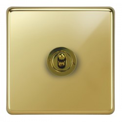 Focus SB Victorian VPB14.1/3 1 gang 20 amp Intermediate toggle switch in Polished Brass