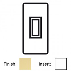 Focus SB Victorian V16.1W 1 gang 20 amp 2 way architrave switch in Polished Brass with white inserts