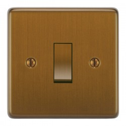 Focus SB Victorian VBA11.1/3 1 gang 20 amp Intermediate rocker switch in Bronze Antique