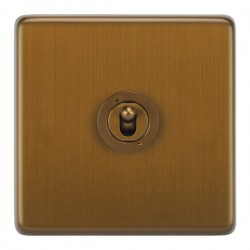 Focus SB Victorian VBA14.1/3 1 gang 20 amp Intermediate toggle switch in Bronze Antique