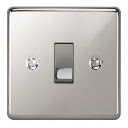 Focus SB Victorian VPC11.1/3 1 gang 20 amp Intermediate rocker switch in Polished Chrome