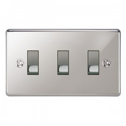 Focus SB Victorian VPC11.3 3 gang 20 amp 2 way rocker switch in Polished Chrome