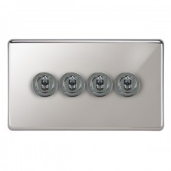 Focus SB Victorian VPC14.4 4 gang 20 amp 2 way toggle switch in Polished Chrome