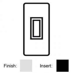 Focus SB Victorian VPC16.1B 1 gang 20 amp 2 way architrave switch in Polished Chrome with black inserts