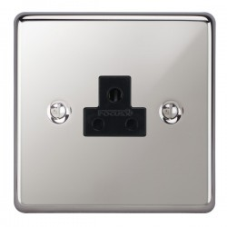 Focus SB Victorian VPC19.1B 1 gang 2 amp unswitched socket in Polished Chrome with black inserts