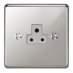 Focus SB Victorian VPC19.1W 1 gang 2 amp unswitched socket in Polished Chrome with white inserts