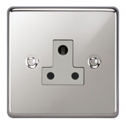 Focus SB Victorian VPC20.1W 1 gang 5 amp unswitched socket in Polished Chrome with white inserts