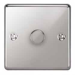 Focus SB Victorian VPC21.1 1 gang 2 way 250W (mains and low voltage) dimmer in Polished Chrome