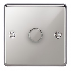 Focus SB Victorian VPC22.1 1 gang 2 way 400W (mains and low voltage) dimmer in Polished Chrome