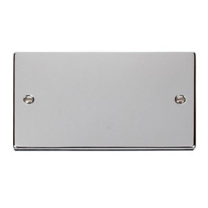 Click Deco Victorian Polished Chrome Double Blank Plate
