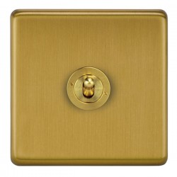 Focus SB Victorian VSB14.1/3 1 gang 20 amp Intermediate toggle switch in Satin Brass