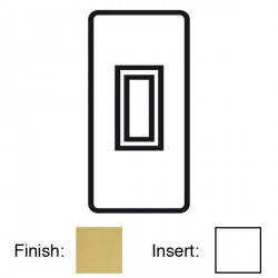 Focus SB Victorian VSB16.1W 1 gang 20 amp 2 way architrave switch in Satin Brass with white inserts