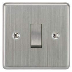 Focus SB Victorian VSC11.1 1 gang 20 amp 2 way rocker switch in Satin Chrome