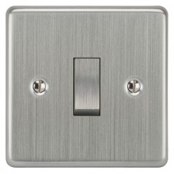 Focus SB Victorian VSC11.1/3 1 gang 20 amp Intermediate rocker switch in Satin Chrome