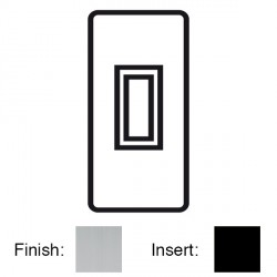 Focus SB Victorian VSC16.1B 1 gang 20 amp 2 way architrave switch in Satin Chrome with black inserts