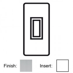 Focus SB Victorian VSC16.1W 1 gang 20 amp 2 way architrave switch in Satin Chrome with white inserts