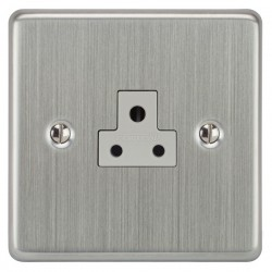 Focus SB Victorian VSC19.1W 1 gang 2 amp unswitched socket in Satin Chrome with white inserts