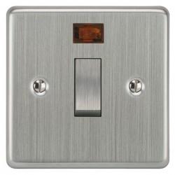 Focus SB Victorian VSC30.1 1 gang 20 amp double pole rocker switch in Satin Chrome