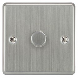 Focus SB Victorian VSC43.1/SML 1 gang 700W low voltage, 1000W mains voltage dimmer in Satin Chrome