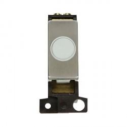 Click Minigrid MD017WHSS 20A Stainless Steel Ingot Flex Outlet Module White Insert