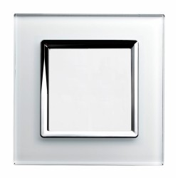 Retrotouch Crystal White Chrome Trim Blank Plate