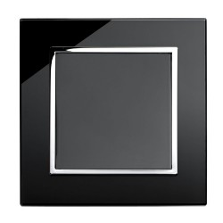 Retrotouch Crystal Black Chrome Trim Blank Plate