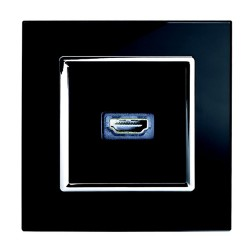 Retrotouch Crystal Black Chrome Trim HDMI Socket