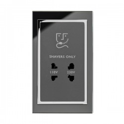 Retrotouch Crystal Black Chrome Trim Shaver Socket