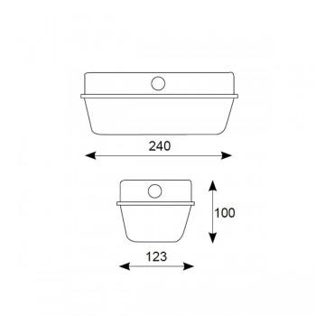 Ansell E27 Aluminum Bulkhead with Glass Diffuser
