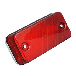 Ansell E27 Aluminium Bulkhead with Red Polycarbonate Diffuser
