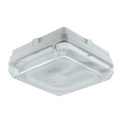 Ansell Astro CFL 16W White Bulkhead with Prismatic Diffuser