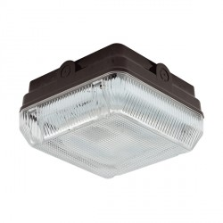 Ansell Astro CFL 28W Black Bulkhead with Prismatic Diffuser and Emergency Backup