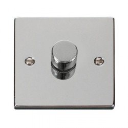 Click Deco Victorian Polished Chrome 1 Gang 2 Way Dimmer Switch