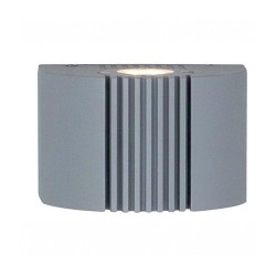 Ansell Anzio LED Silver Grey Wall Light