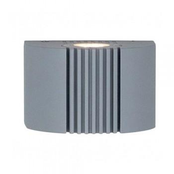 Ansell Anzio LED Silver Grey Wall Light