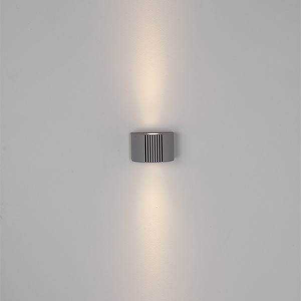 Ansell External Wall Lights : Ansell Anzio LED Silver Grey Wall Light at UK Electrical Supplies.