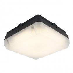 Ansell Astro LED 14W Black Bulkhead with Emergency Batter Backup