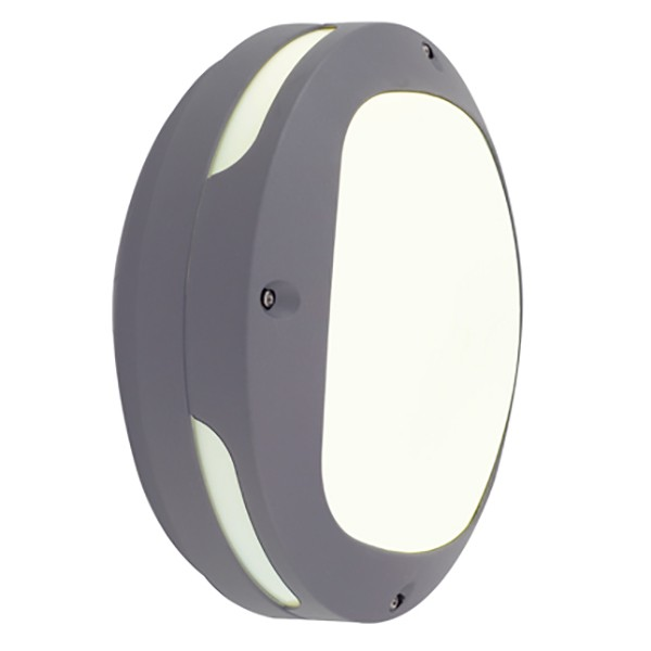Wall Lights With Emergency : Ansell Andante LED Silver Grey Wall Light with Emergency Battery Backup at UK Electrical Supplies.