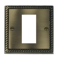 Hamilton Cheriton EuroFix Plates Antique Brass Single Plate c/w 1 EuroFix Apertures + Grid
