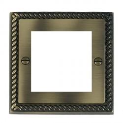Hamilton Cheriton EuroFix Plates Antique Brass Single Plate c/w 2 EuroFix Apertures + Grid