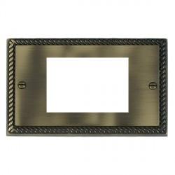 Hamilton Cheriton EuroFix Plates Antique Brass Double Plate c/w 3 EuroFix Apertures + Grid