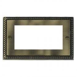 Hamilton Cheriton EuroFix Plates Antique Brass Double Plate c/w 4 EuroFix Apertures + Grid